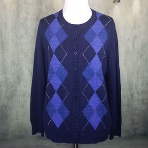 Croft & Barrow Cardigan Size Petite M Dark Blue